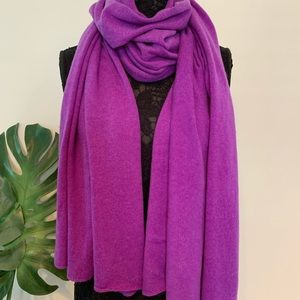 Purple Cashmere Scarf/Wrap Made in Nepal